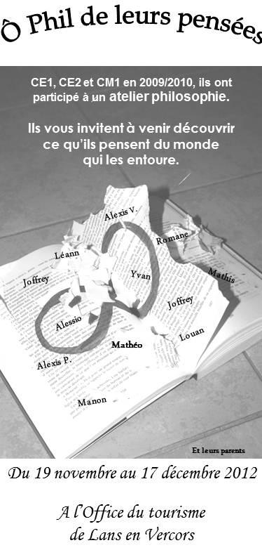 """Exposition """"Ô Phil de leurs pensées"""