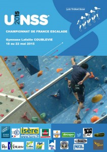 AFFICHE OFFICIELLE FRANCE ESCALADE UNSS 2015