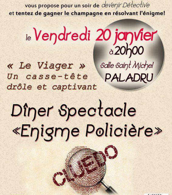 """Dîner-spectacle """"Enigme policière"""""""