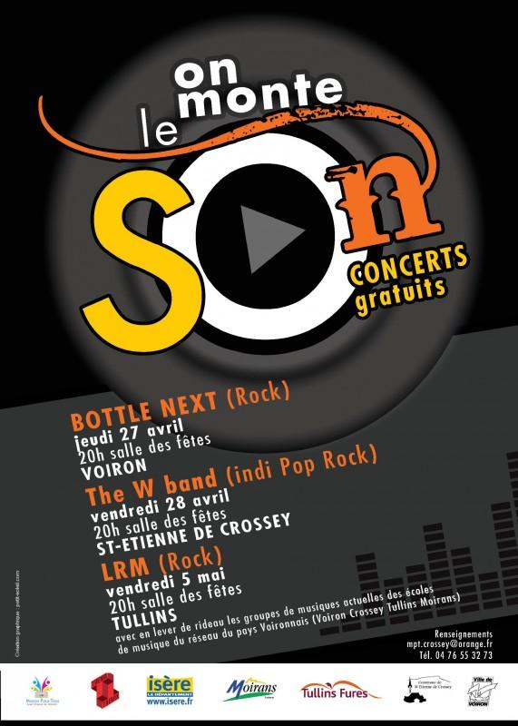 """Concert Rock """"Bottle Next"""" à Voiron"""
