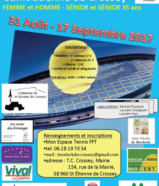 Open 2017 de Tennis à Saint-Étienne-de-Crossey