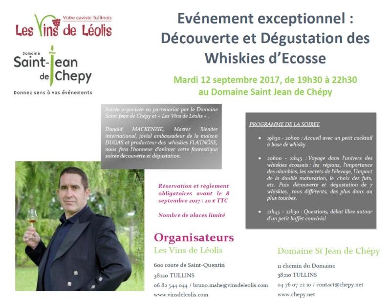 Découverte et dégustation de Whiskies d'Ecosse