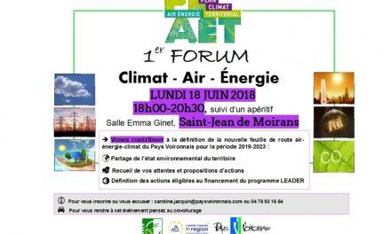 "1er Forum ""Climat – Air – Energie"""