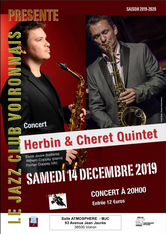 Concert jazz «Herbin & Cheret Quintet» à Voiron